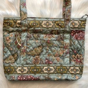 NWT d'margeaux Paisley Leave Grey Fabric Purse